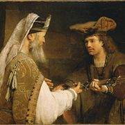 Picture Of Mythological Swords - Ahimelech Giving The Sword Of Goliath To David By Aert De Gelder