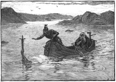 Picture Of The Lady Of The Lake Offering Arthur Excalibur By Alfred Kappes